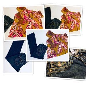 True Religion Womens Rhinestone Jeans + Gift